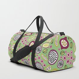 abstract fruit-salad green Duffle Bag