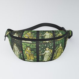 """William Morris """"Four seasons"""" (Dining Room at Cragside House, Northumberland, UK) Fanny Pack"""