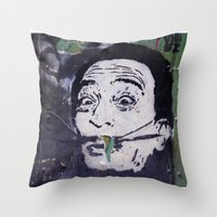 salvador dali Throw Pillows featuring Salvador Dali by Victoria Herrera