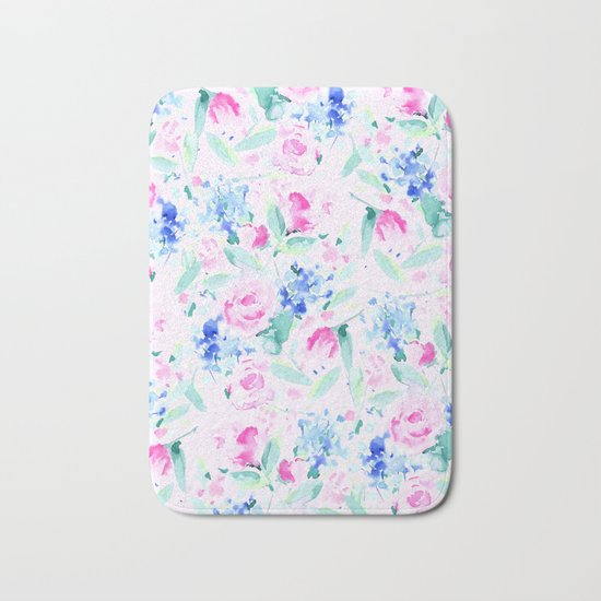 Scattered Lovers Pink Bath Mat