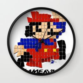 Pixel Mario Wall Clock