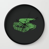 war Wall Clocks featuring @#$% WAR! by Madkobra