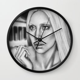 VERSACE - drawing by Davy Oldenburg Wall Clock