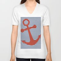 sailor V-neck T-shirts featuring sailor by zakumy