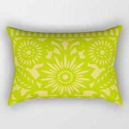 Papel Picado - Green + Yellow Rectangular Pillow