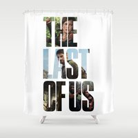 last of us Shower Curtains featuring The Last of Us (Tlou Collage) by TxzDesign