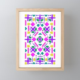 Colorful Shape Pattern Design Framed Mini Art Print
