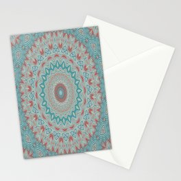 Tribal Medallion Teal Stationery Cards