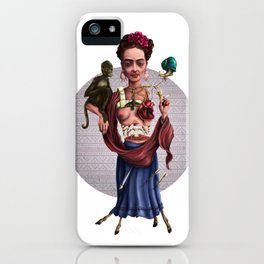 The accident of Frida Kahlo iPhone Case