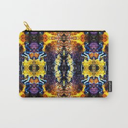 Mystic Yellow Blue Ornament Pattern Carry-All Pouch
