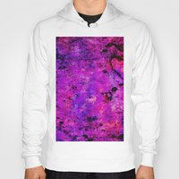 hot pink Hoodies featuring Colorful GRUNGE, hot pink by MehrFarbeimLeben