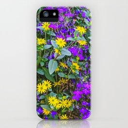 Alpine flowers in the Gressoney valley near Monte Rosa iPhone Case