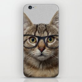 Hipster Cat iPhone Skin