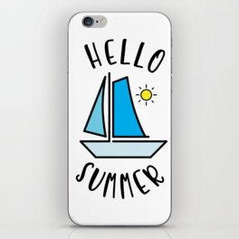 Hello Summer Sailing iPhone Skin