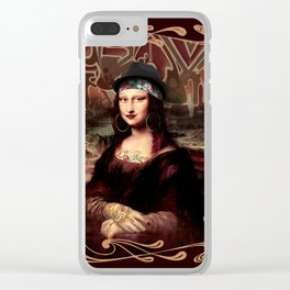 Chicana Mona Lisa Clear iPhone Case