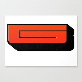 Wood Type G filled Canvas Print