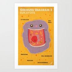 Germusu Eukayote Diagram Art Print