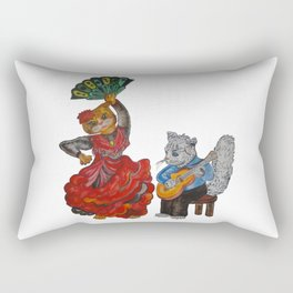 Cats and Flamenco Rectangular Pillow