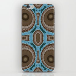 Brown Warts on Blue Pattern iPhone Skin