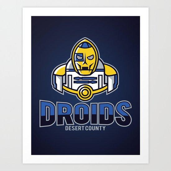 Desert County Droids - Navy Art Print
