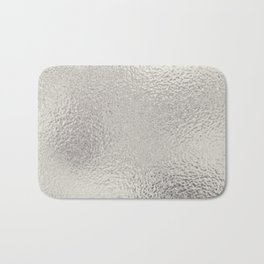 Simply Metallic in Silver Bath Mat