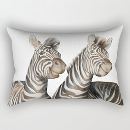 Zebras Watercolor Rectangular Pillow