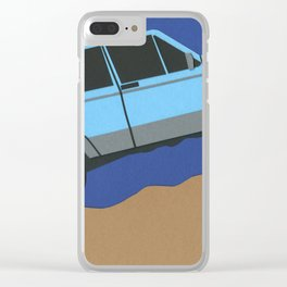 Blue SUV Clear iPhone Case