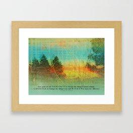 Serenity Prayer Colorful Trees Framed Art Print