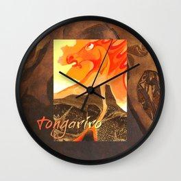 Mount Tongariro  Volcano Spirit Wall Clock
