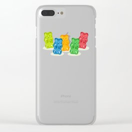 Gummy Bears Gang Clear iPhone Case