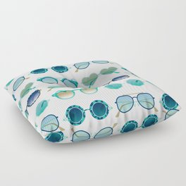 Sunglasses Collection – Turquoise & Navy Palette Floor Pillow