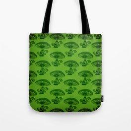 """Mushrooms in the Garden"" Wonderland Style Design by Dark Decors Tote Bag"
