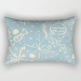 Cozy Winter Doodles Rectangular Pillow