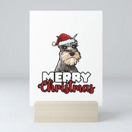 Merry Christmas Schnauzer Dog Lover Gift Mini Art Print