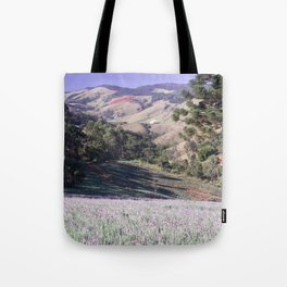 Lavenders and mountains Tote Bag