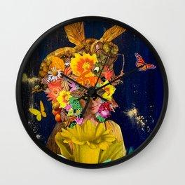 c0vid queen bee Wall Clock