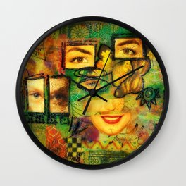 Windows of the Soul Wall Clock