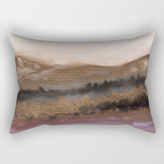 Watercolor abstract landscape 19 Rectangular Pillow