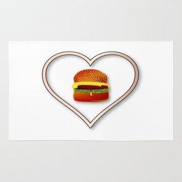 Love Burgers Rug