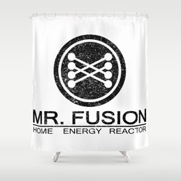 Dusted and Scratched Mr. Fusion Home Energy Reactor Logo Artwork For Prints, Posters, Tshirts, Bags, Shower Curtain
