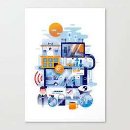 The process (2017) Canvas Print