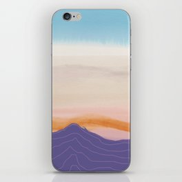 Mixed Media Sunset iPhone Skin