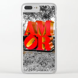 Amor Clear iPhone Case