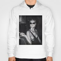 kate moss Hoodies featuring Kate Moss Painting  by Beth Zimmerman Illustration