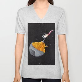 Moon Mac and Cheese Unisex V-Neck