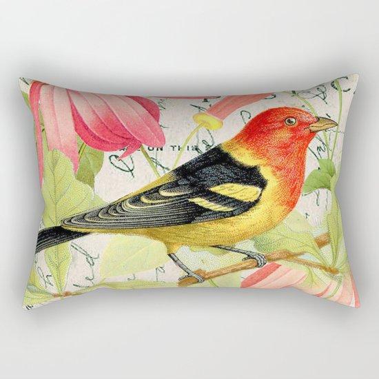 Vintage Bird #4 Rectangular Pillow