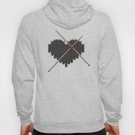 Original Knitted Heart Design Hoody