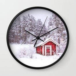 Christmas Card II Wall Clock