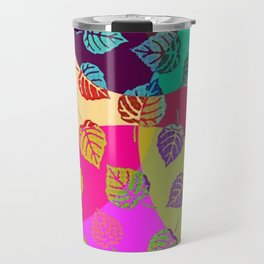 Design - Colourful Leaves Travel Mug