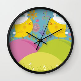 Happy Easter Time! Wall Clock